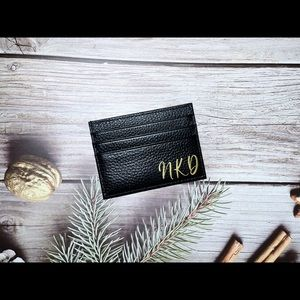 Personalised leather card holder| Card holder| Gift for him/ her